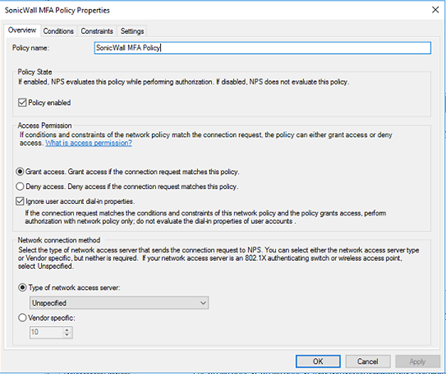 configuring Azure AD MFA with SonicWall