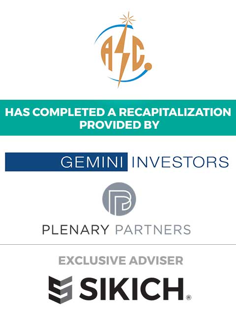 tombstone for investment banking advisor transaction American Standard Circuits recapitalization Gemini Investors and Plenary Partners