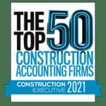 2021 Top 50 Construction Accounting Firms Construction Executive logo