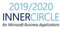 2019/2020 inner circle award for Microsoft business applications